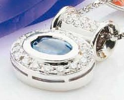 Ceylon Sapphire & Diamond Slider Pendant