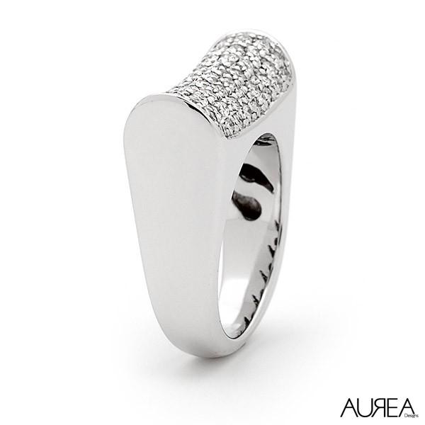 Moat Design Diamond Ring