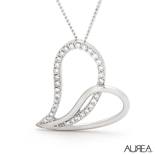 Heart Slider Diamond Pendant