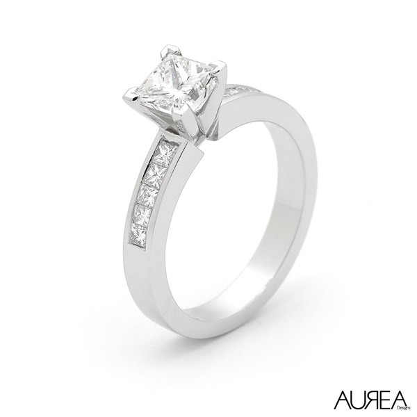 Traditional Princess Cut Engagement Ring