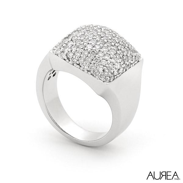 Dazzling Pave Diamond Dress Ring