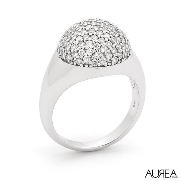 Tholos Inspired Pave Diamond Ring