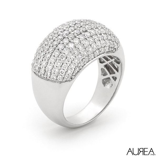 Dome Pave Set Ring