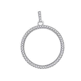 Circle of Life Diamond Pendant with Bail