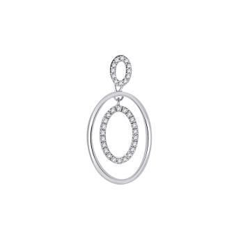 Duple' Oval Diamond Pendant