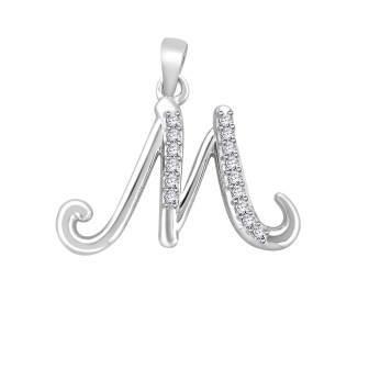 Diamond fancy letter 'M'