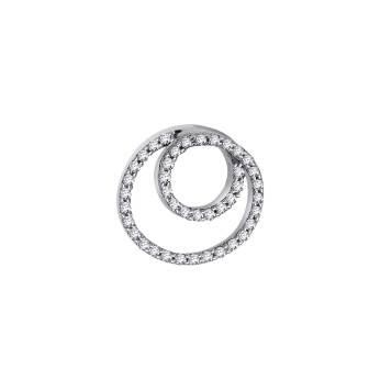 Whirl Diamond Pendant