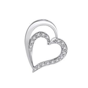 Elegant Heart Diamond Slider Pendant