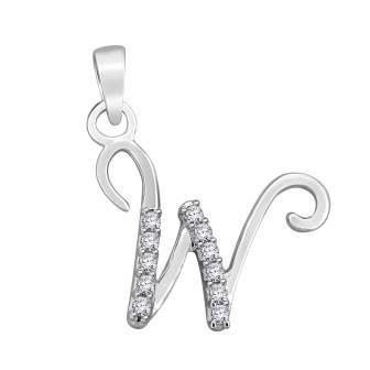 Diamond fancy letter 'W'