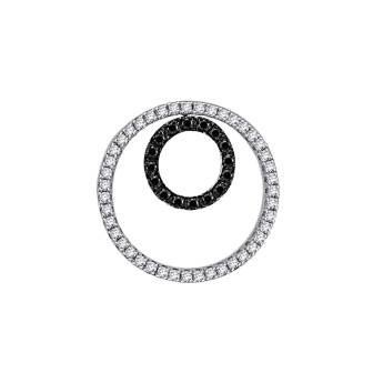 Black and White Diamond Circle of Life Slider