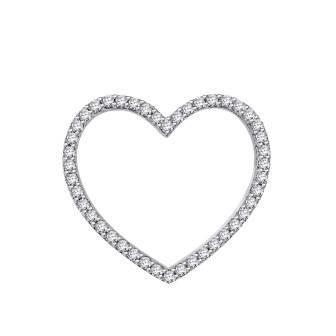Classic Diamond Heart Pendant Slider
