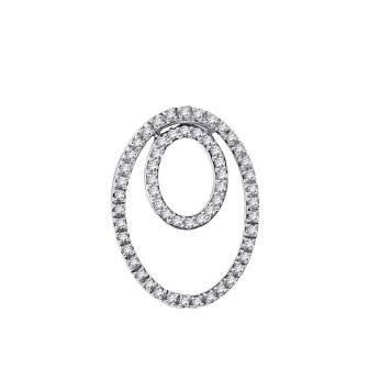 Coupled Oval Diamond Pendant