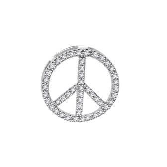 Peace Symbol Diamond Pendant