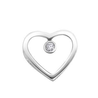Natural Heart Diamond Pendant