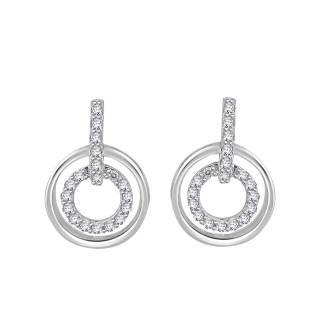 Duple' Round Diamond Earrings