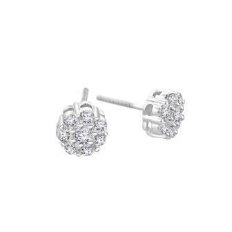 Rose Style Diamond Earrings