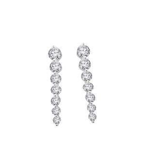 Flowing Diamond Earrings