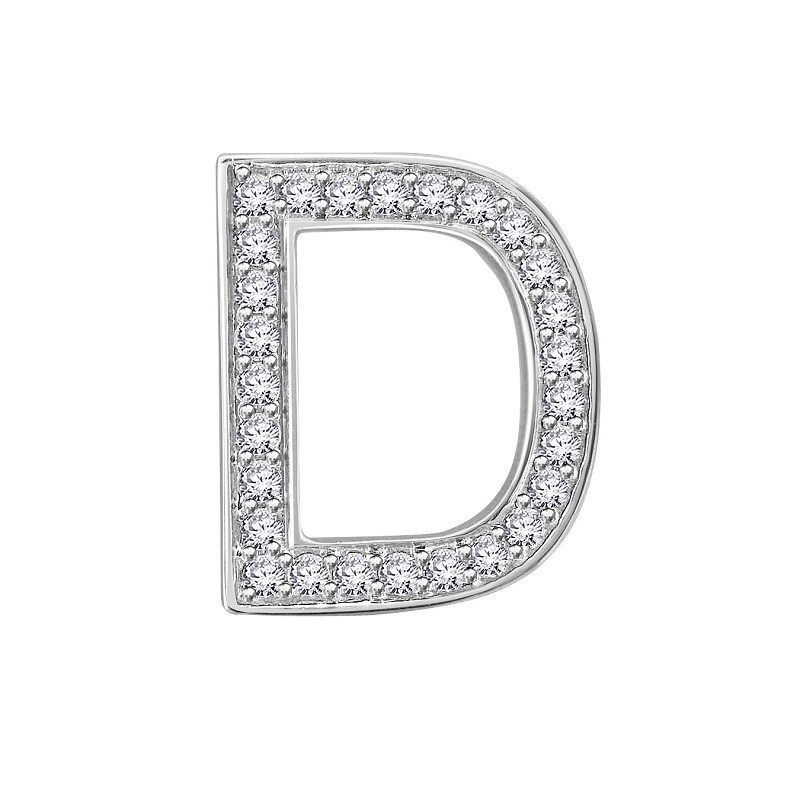 Letter D In Diamond Ha...