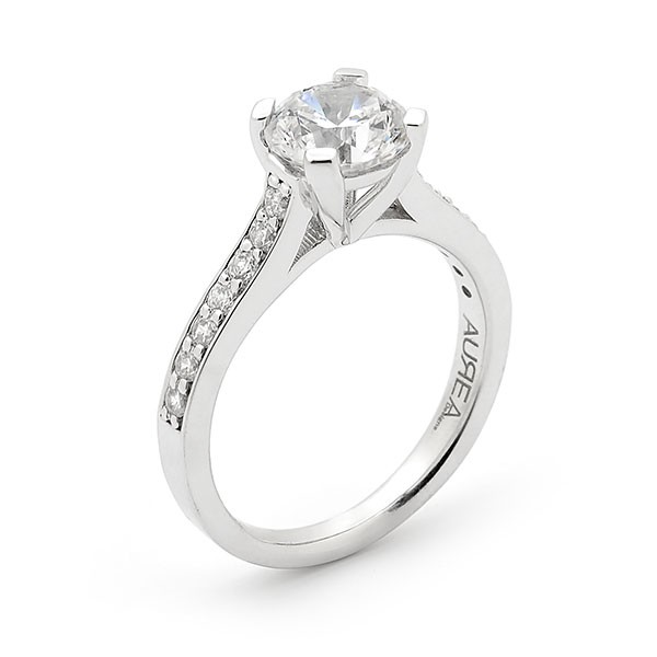 Round Brilliant Diamond Four Claw Engagement Ring