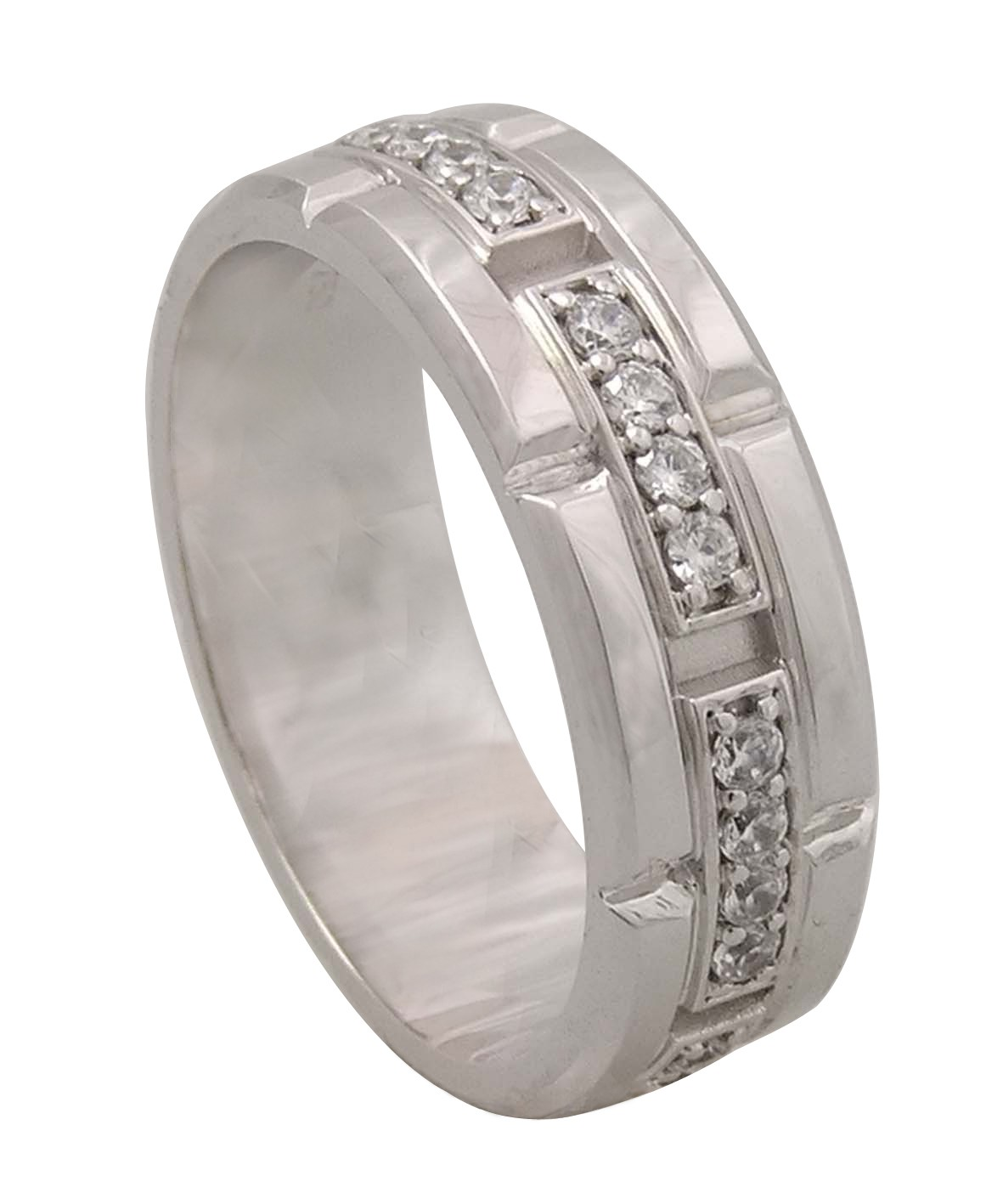 Pave Set Diamond Gents Ring