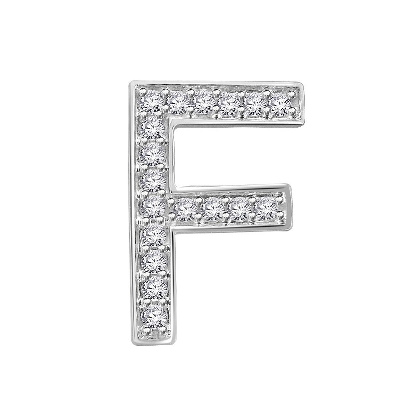 Hand Crafted Fine Jewellery Sydney Diamond letter F INITIALS